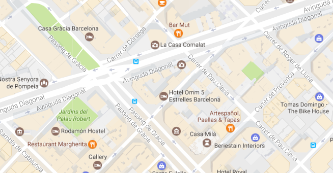 mapa hotel omm
